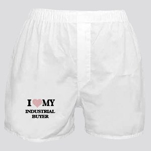 I love my Industrial Buyer (Heart Mad Boxer Shorts