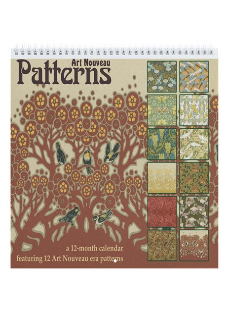 Art nouveau patterns wall calendar by hiptowho
