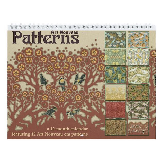 Art nouveau patterns wall calendar by hiptowho