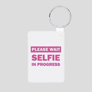 Selfie In Progress Keychains