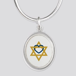 Star Of David Heart Necklaces