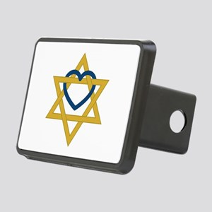 Star Of David Heart Hitch Cover