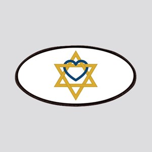 Star Of David Heart Patch