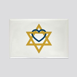 Star Of David Heart Magnets