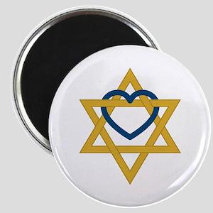 Star Of David Heart Magnets