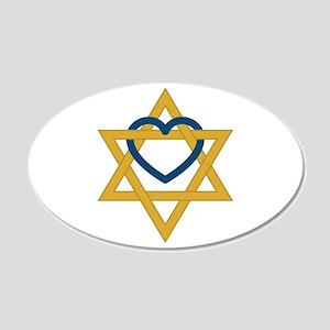 Star Of David Heart Wall Decal