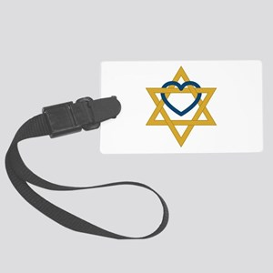 Star Of David Heart Luggage Tag
