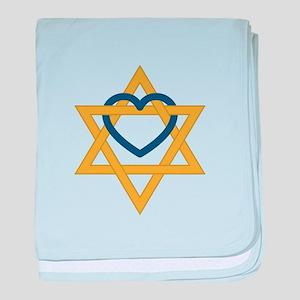 Star Of David Heart baby blanket