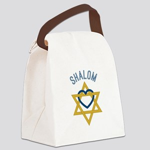 Shalom Heart Canvas Lunch Bag
