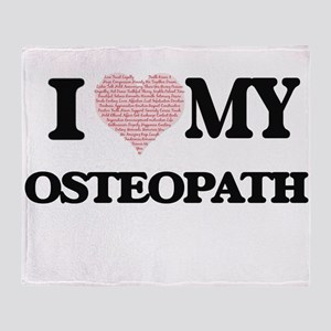 I love my Osteopath (Heart Made from Throw Blanket