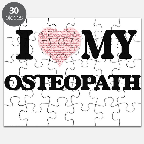 I love my Osteopath (Heart Made from Words) Puzzle