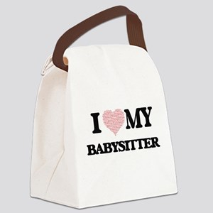 I love my Babysitter (Heart Made Canvas Lunch Bag