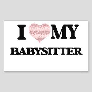 I love my Babysitter (Heart Made from Word Sticker