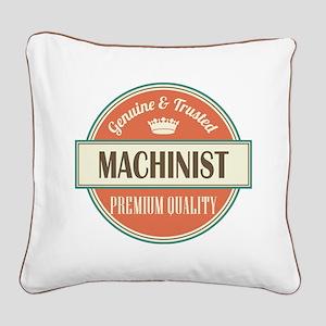 machinist vintage logo Square Canvas Pillow
