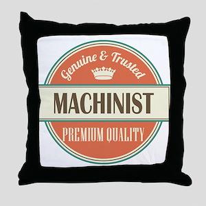 machinist vintage logo Throw Pillow