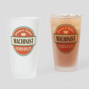 machinist vintage logo Drinking Glass