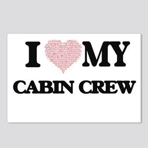 I love my Cabin Crew (Hea Postcards (Package of 8)