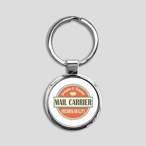 mail carrier vintage logo Round Keychain