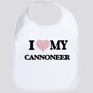 I love my Cannoneer (Heart Made from Words) Bib