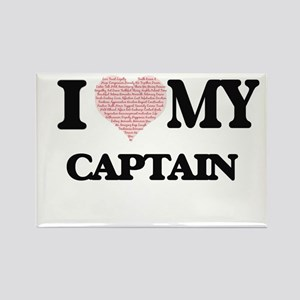 I love my Captain (Heart Made from Words) Magnets