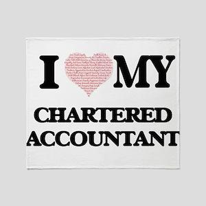 I love my Chartered Accountant (Hear Throw Blanket