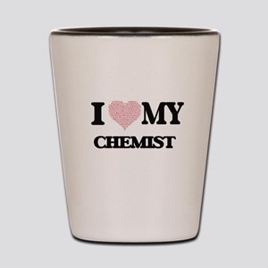I love my Chemist (Heart Made from Word Shot Glass