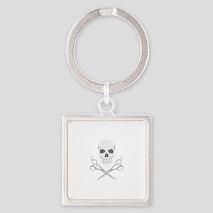 Skull Scissors Keychains