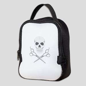 Skull Scissors Neoprene Lunch Bag