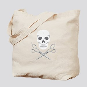 Skull Scissors Tote Bag