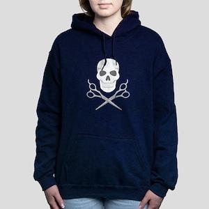 Skull Scissors Women's Hooded Sweatshirt