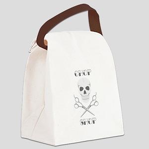 Chop Shop Salon Canvas Lunch Bag