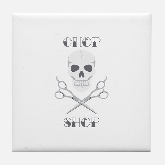 Chop Shop Salon Tile Coaster