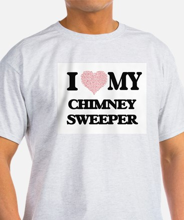 I love my Chimney Sweeper (Heart Made from T-Shirt