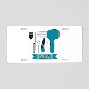 Beautician Tools Aluminum License Plate
