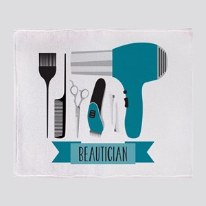 Beautician Tools Throw Blanket