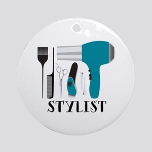 Stylist Tools Round Ornament