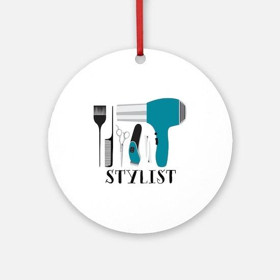 Stylist Tools Round Ornament