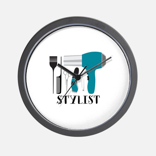 Stylist Tools Wall Clock