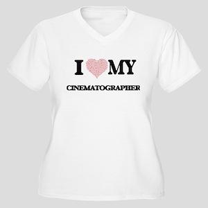 I love my Cinematographer (Heart Plus Size T-Shirt