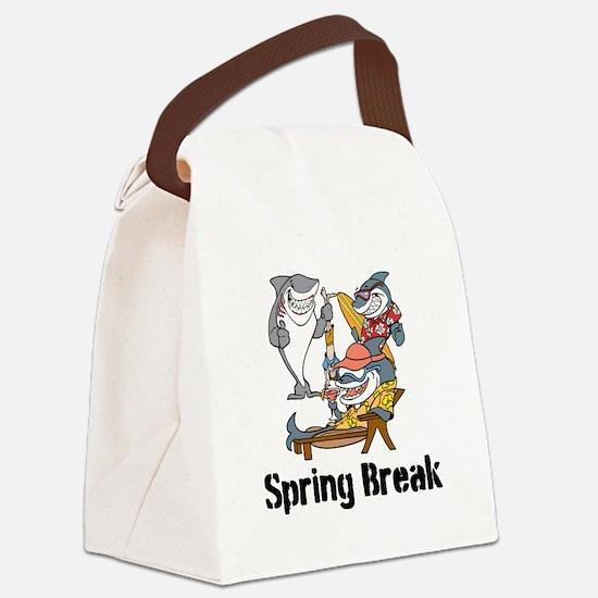 Custom Sharks Canvas Lunch Bag