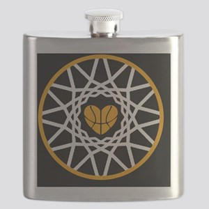 Love Heart Rim Net Basketball Art Flask