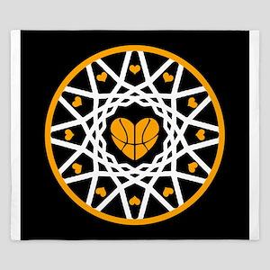 Love Basketball Heart Hoops Original King Duvet