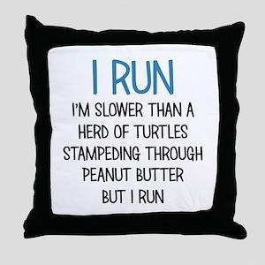 I RUN Throw Pillow