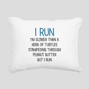 I RUN Rectangular Canvas Pillow