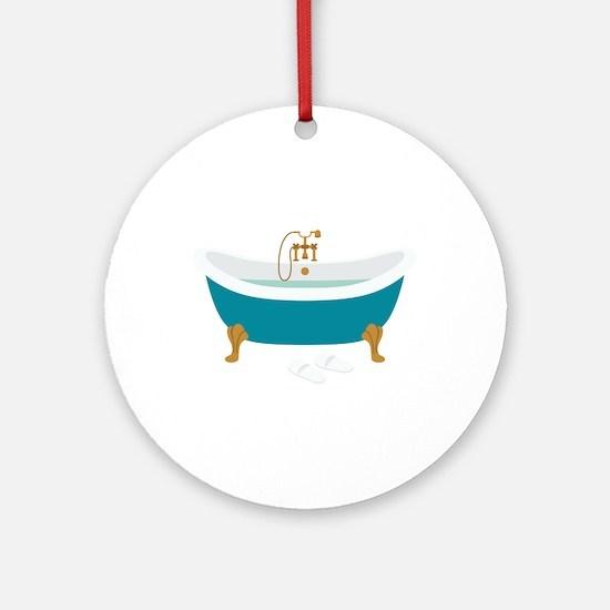 Vintage Bathtub Round Ornament