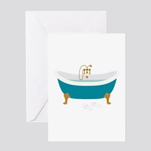 Vintage Bathtub Greeting Cards