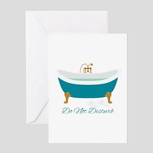 Do Not Disturb Tub Greeting Cards