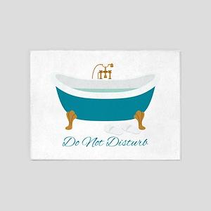 Do Not Disturb Tub 5'x7'Area Rug