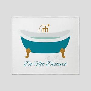 Do Not Disturb Tub Throw Blanket