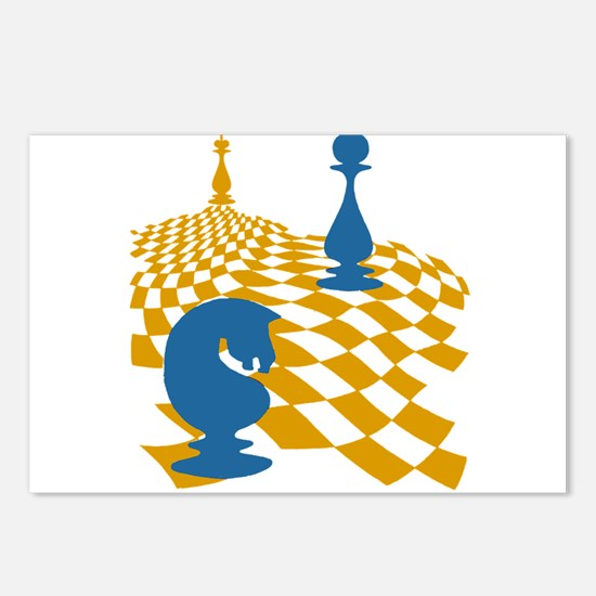 Chess Game Board Magnus C Postcards (Package of 8)